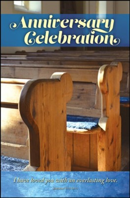 Anniversary Celebration (Jeremiah 31:3, NIV) Bulletins, 100  -
