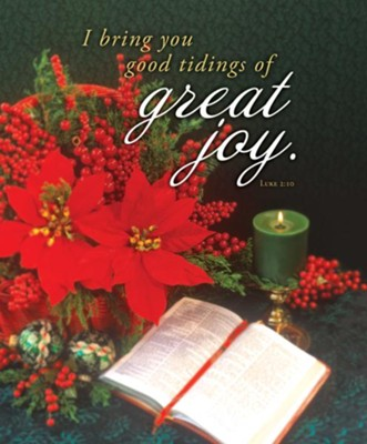 Great Joy (Luke 2:10, KJV) Large Bulletins, 100   -