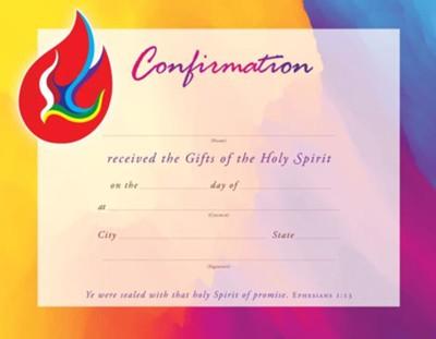 Confirmation Dove (Ephesians 1:13, KJV) Certificates, 25 -