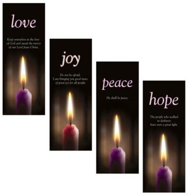Advent X-Stand Banners, Set of 4 (23 inch x 63 inch)  -