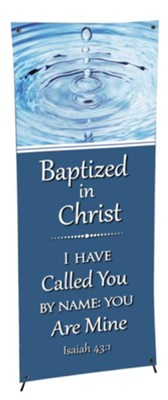 X-Stand Banner: Baptism (23 inch x 63 inch)  -
