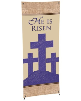 X-Stand Banner: Cross (23 inch x 63 inch)  -
