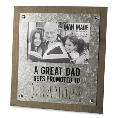 A Great Dad Gets Promoted to Grandpa Photo Frame  -