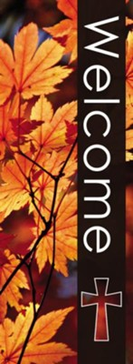 Welcome Fall X-Stand Banner (23 inch x 63 inch)  -