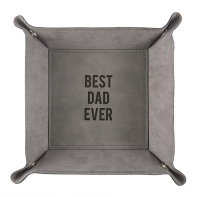 Best Dad Ever Snap Together Leather Tray  -