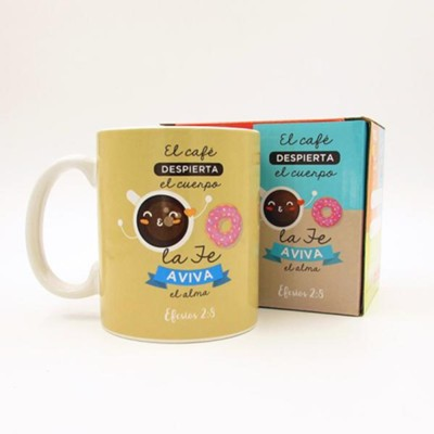 El cafe despierta el cuerpo, Taza, Coleccion Comparte  (Coffee Awakens the Body, Mug, Share Collection, Spanish)  -