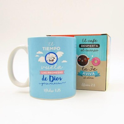 Las Promesas de Dios, Taza, Coleccion Comparte  (God's Promises Last, Mug, Share Collection, Spanish)  -