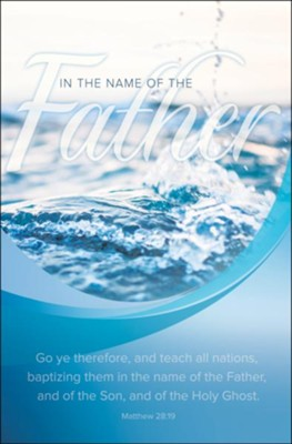 Baptizing Them in the Name of the Father ( Matthew 28:19, KJV) Bulletins, 100  -