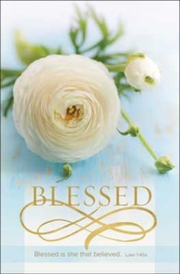 Blessed Is She (Luke 1:45a, KJV) Bulletins, 100  -