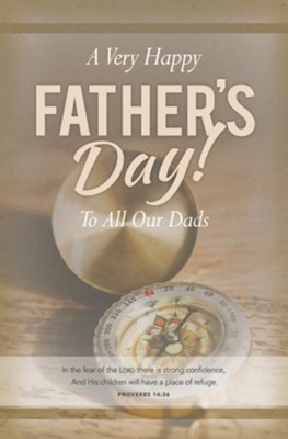Strong Confidence Father's Day Bulletins (Proverbs 14:26, NKJV)/100    -