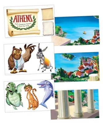 Athens: Giant Decorating Posters (set of 6)  -