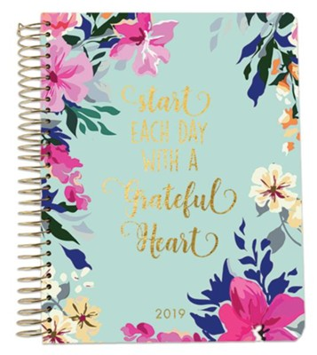 2019 Start Each Day with a Grateful Heart, 18 Month Planner, Large  -