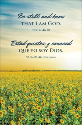 Be Still / Estad Quietos (Psalm 46:10 / Salmos 46:10, RVR1960) Bulletins, 100  -