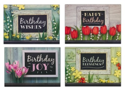 Birthday Joy (KJV) Birthday Cards, Box of 12  -