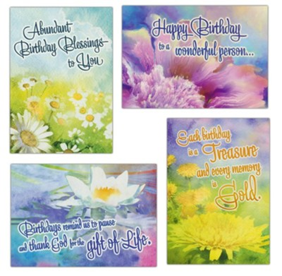 Birthday Treasures (NIV) Birthday Cards, Box of 12  -