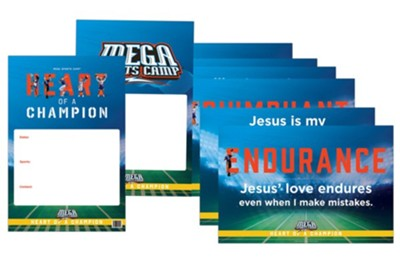 MEGA Sports Camp Heart of a Champion: Poster Pack (pkg. of 8)  -     By: Heart of a Champion