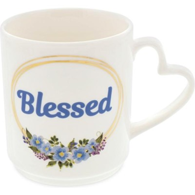 Blessed, Flowers, Mug  -     By: Heart of Angelstar