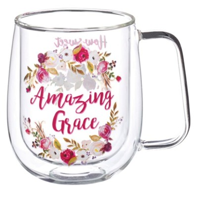 Amazing Grace Glass Mug  -