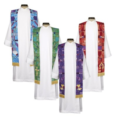 Stained Glass Stole Set     -