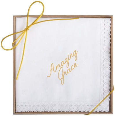 Amazing Grace Boxed Handkerchief  -