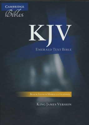 KJV Standard Text Bible, Moroccan leather, Black   -