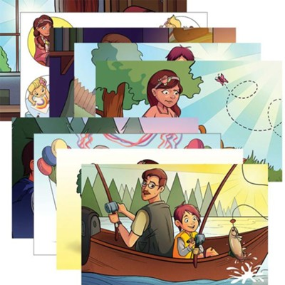 Answers Bible Curriculum PreK-1 Unit 2 Justin & Jessie Story Posters (2nd Edition)  -