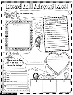 Instant Personal Poster Sets: Read All About Me!  Grades K-2  -