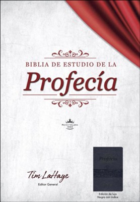 Biblia de estudio de la profec&#237a RVR 1960, piel imit. negra con indice (The Prophecy Study Bible, Black with Index)  -     By: Tim LaHaye