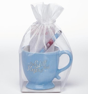 Be Still and Know, Mug, Pen and Notepad Gift Set  -
