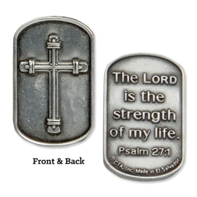 The Lord if the Strength of My Life Military Encouragement Pocket Coin  -
