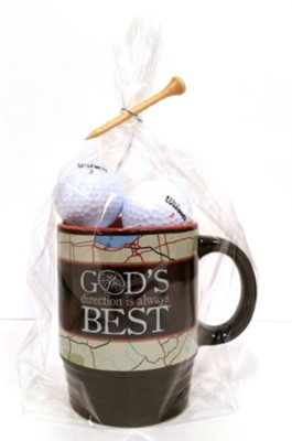 God's Direction Is Always Best, Mug and Golf Ball Gift Set  -