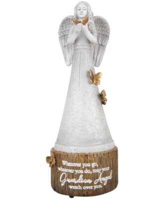 May Your Guardian Angel Watch Over You Musical Angel Figurine, Amazing Grace  -