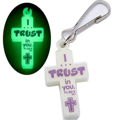 Fearbusters, I Trust In You, Glow-In-the-Dark Zipper Pull  -
