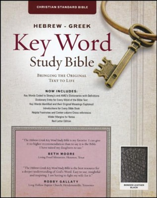CSB Hebrew-Greek Key Word Study Bible, bonded, leather, black  -     Edited By: Dr. Spiros Zodhiates