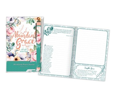 Abundant Grace Prayer Journal and Pen Gift Set, KJV  -