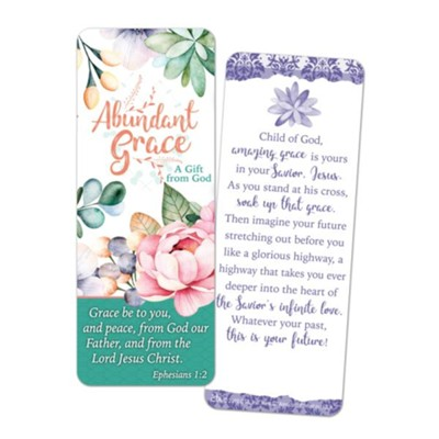 Abundant Grace Jumbo Bookmark  -