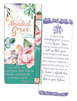 Abundant Grace Jumbo Bookmark and Pen Gift Set  -