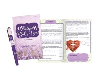 Whispers of God's Love Devotion Book and Pen Set, KJV  -
