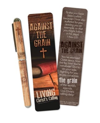 Against the Grain Bookmark and Pen Set  -