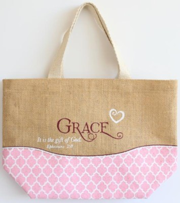 Grace Purse-Style Jute Tote Bag   -