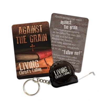 Against the Grain Tape Measure Keychain  -