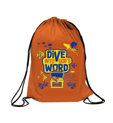 Dive Into God's Word Drawstring Backpack  -