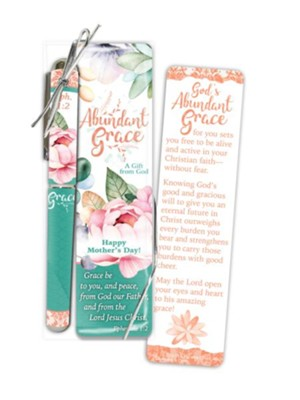 Abundant Grace Mother's Day Bookmark and Pen Gift Set  -