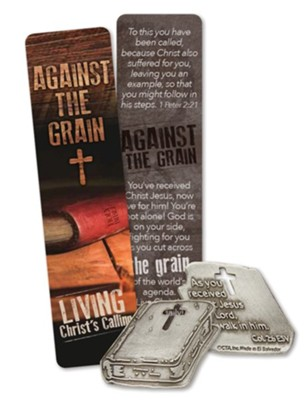 Against the Grain Pocket Piece and Bookmark   -