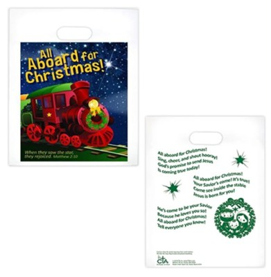 All Aboard for Christmas Goodie Bags, Pack of 12  -
