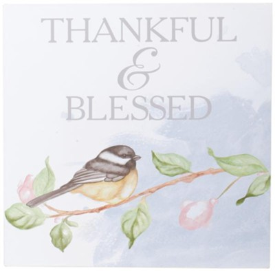 Thankful & Blessed Wall Art  -