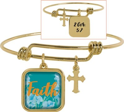 Faith Adjustable Bracelet, 2 Cor 5:7  -