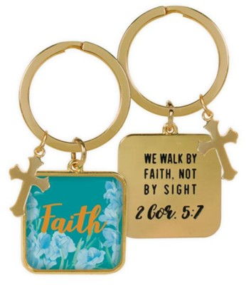 Faith Keyring, 2 Cor 5:7  -