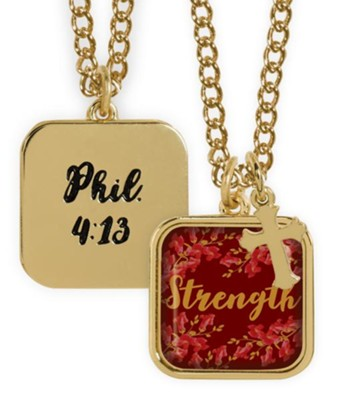 Strength Pendant, Phil 4:13  -