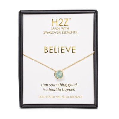 Believe, Aqua Opal Necklace  -     By: H2Z